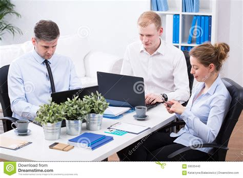 Office For Employees by Office Employees At Work Stock Photo Image 59533440