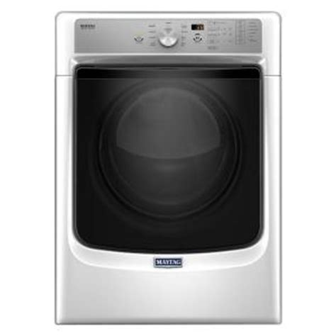 maytag 7 4 cu ft gas dryer with steam in white mgd5500fw