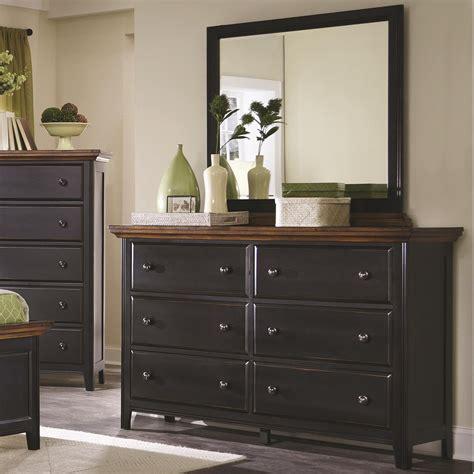 Black And Wood Dresser Coaster 203153 Black Wood Dresser A Sofa Furniture