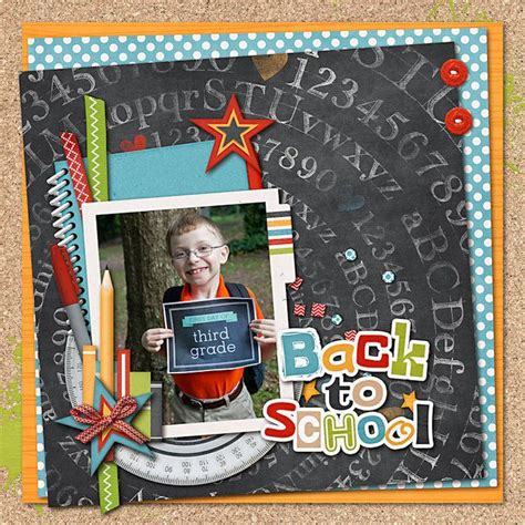 scrapbook layout for school picture 113 best back to school images on pinterest back to