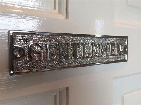 bathroom door signs vintage gentlemen ladies toilet bathroom door sign plaque screws