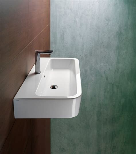 sinks for narrow bathrooms narrow long sink overmount or drop in for the home
