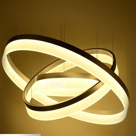 Ring Of 3 Lights by Modern Chandelier Acrylic Ls 3 Ring Led Chandelier