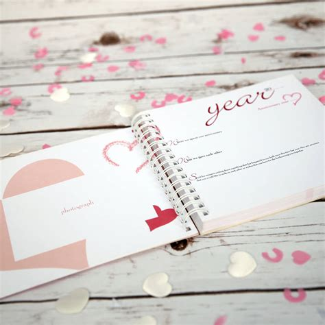 Wedding Anniversary Book by 1st To 50th Wedding Anniversary Memory Book By Two