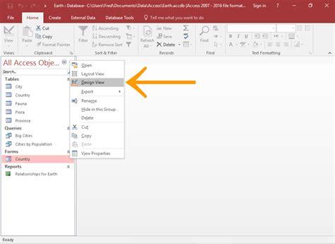 how to find layout view in access 2010 how to add a subform to a form in access 2016