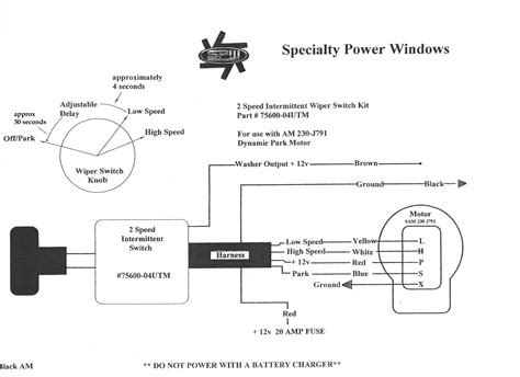 universal wiper switch wiring diagram