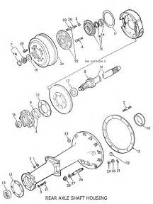 Ford Parts Diagram Ford 8n Rear Axle Shaft Housing Related