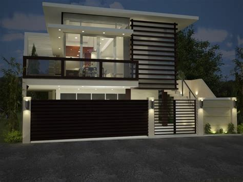 design of house fence modern house