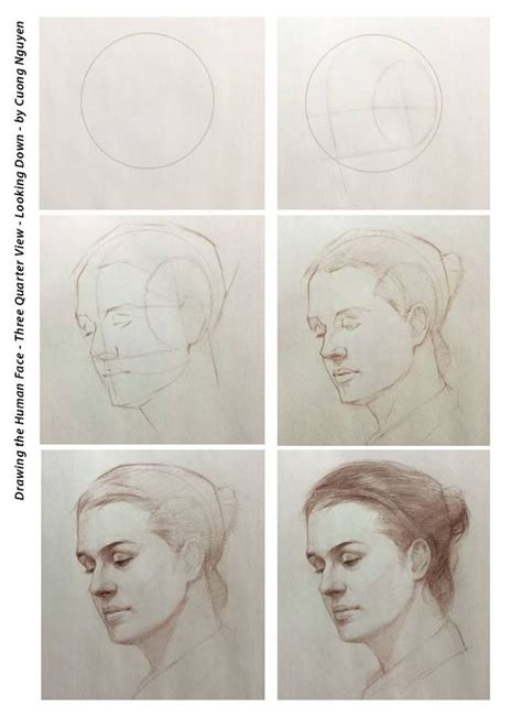 3 Drawing Techniques by Drawing The Human Three Quarter View Looking