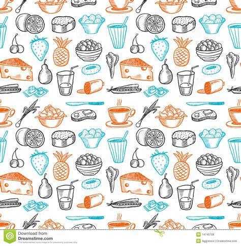 pattern food vector food seamless doodles pattern royalty free stock images