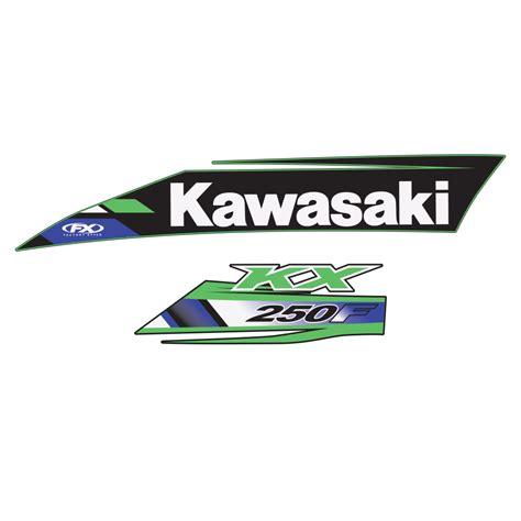 Kawasaki Oem by 2013 Kawasaki Oem Graphic Kx250f 2013 14