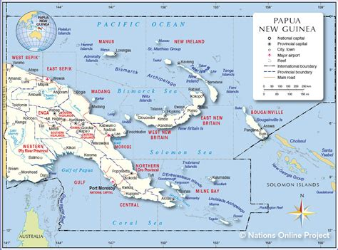 papua new guinea papua neuguinea karte provinzen