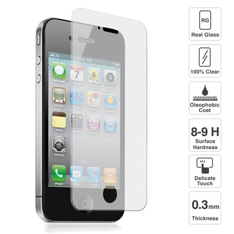 premium quality tempered glass screen protector for iphone 4 4s screen protectors accessories