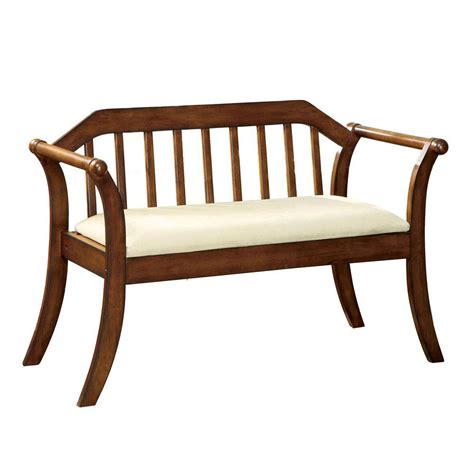 homedepot bench home decorators collection derby dark oak bench cm bn6681 the home depot