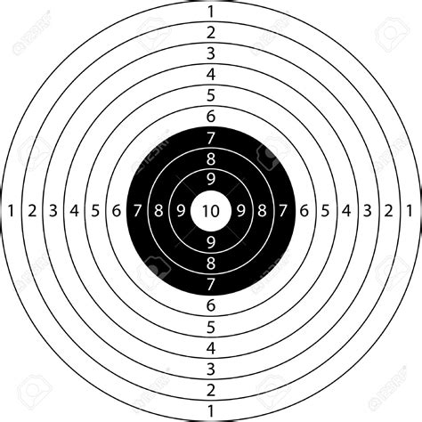 printable competition targets snipers clipart shooting target pencil and in color