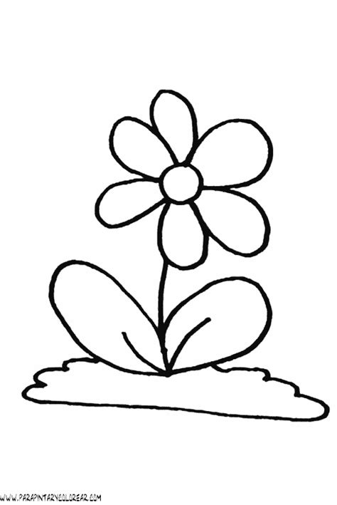 imagenes de flores animadas para colorear dibujo para pintar de flores imagui