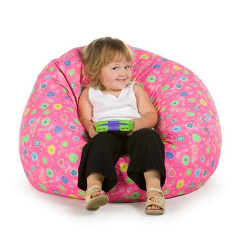 toddler bean bag armchair fun and comfortable seating with elite pink flowers bean