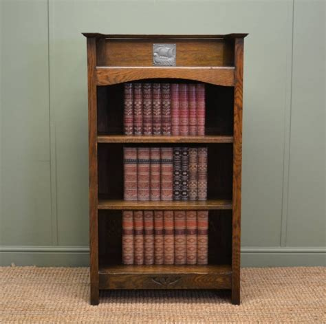 small arts crafts antique oak open bookcase 263761