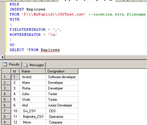 sql server how to bulk insert csv with double quotes import csv or txt file into sql server using bulk insert