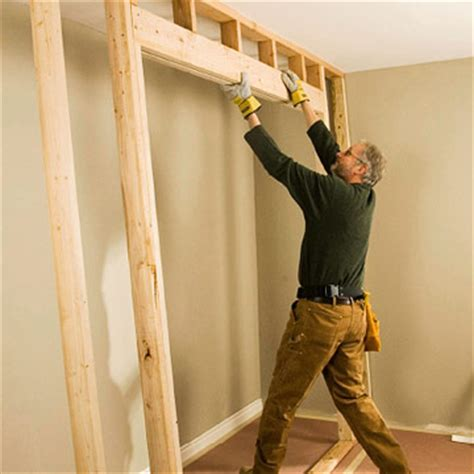 Framing Closet Door Framing For Closet Doors How To Install House Doors Diy Advice