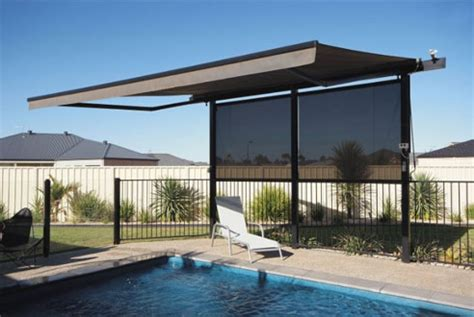 pool awning specialty blinds and awnings shadewell awing systems box
