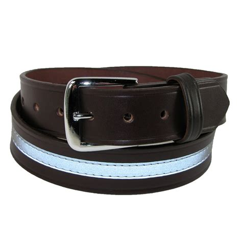 mens big leather 1 1 2 inch reflective work belt by