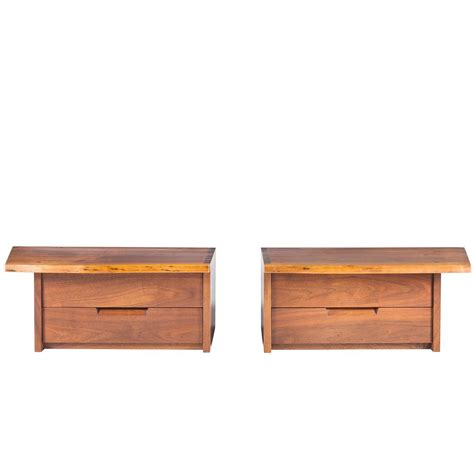 Wall Mounted Nightstand george nakashima wall mounted nightstands for sale at 1stdibs