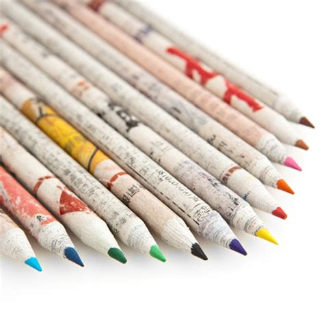How To Make Pencil Out Of Paper - recycled paper colored pencils feel desain