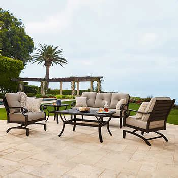 beaumont patio furniture beaumont 5 piece deep seating set