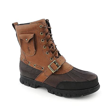 buy polo ralph mens hamlin brown casual boot