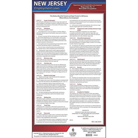 waage oder wage new jersey wage orders