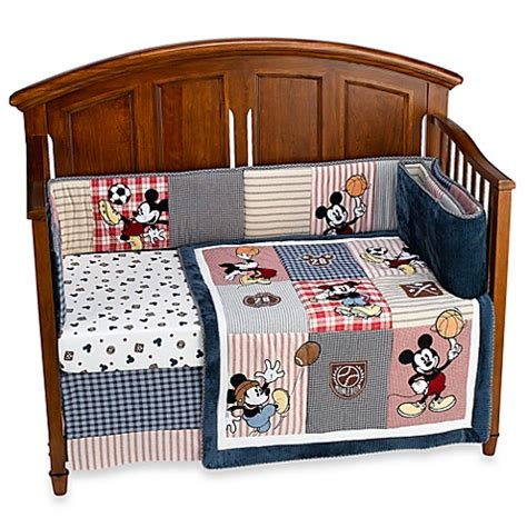 Baby Bedding Gt Disney Baby Vintage Mickey 4 Piece Crib Vintage Baby Bedding Sets