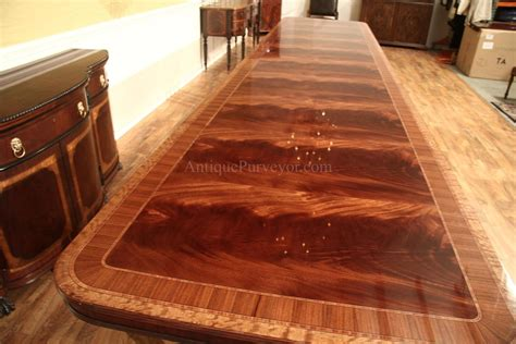 large pedestal mahogany dining table w 2