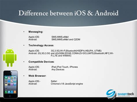 difference between iphone and android android iphone app testing