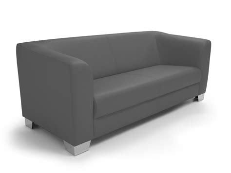 couches chicago chicago 3er sofa ledersofa grau