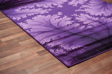 Modern Purple Rugs Modern Purple Area Rug Room Size Lavender Contemporary Big Leaf Design Z39 Ebay