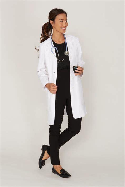 Slim Cut slim cut s lab coat with structured professional