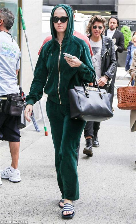Hoodie I Katty Perry katy perry is seen in green hoodie ahead of met gala