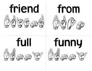 sign language simple loving printable