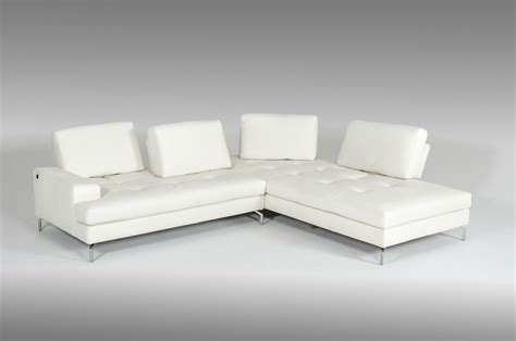 voyager sectional estro salotti voyager modern white leather sectional sofa