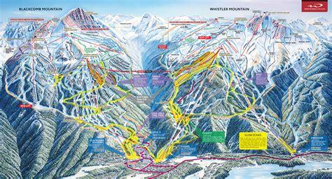 map of whistler canada whistler bc canada whistler blackcomb ski maps
