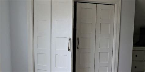 Remodelaholic Bi Fold To Paneled French Door Closet Makeover Replace Bifold Closet Doors Regular Doors