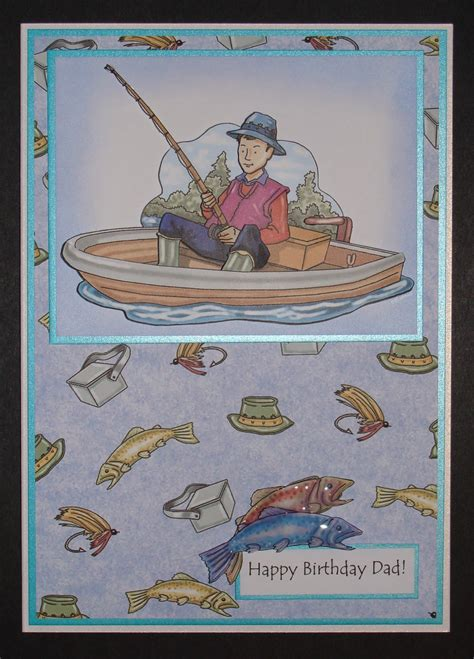 Fishing Birthday Cards Delphinoid S Cards And Craft Fishing Birthday Card