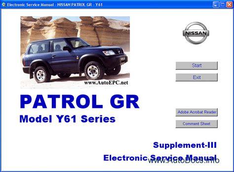 buy car manuals 2011 nissan altima transmission control nissan patrol gr y61 series service manual repair manual order download