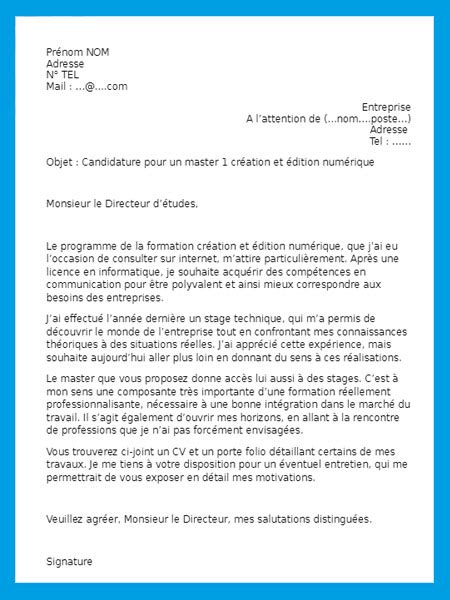 Exemple De Lettre De Motivation Pour Un Stage A L Hopital exemple de lettre de motivation pour un stage gratuit 224