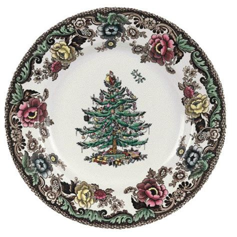 spode christmas tree grove 10 inch dinner plate new ebay