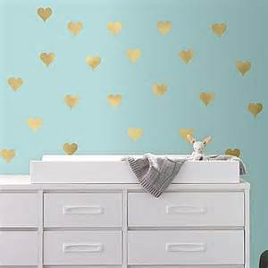 How To Stick Wall Stickers Gold Heart Peel And Stick Wall Decals Bed Bath Amp Beyond