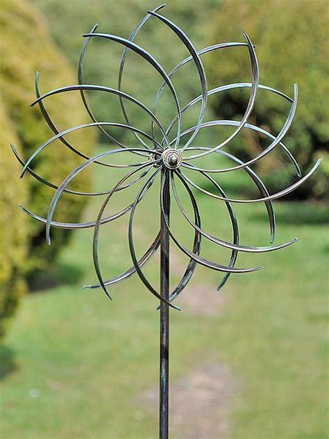 copper pinwheel wind spinner