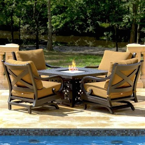 patio set with pit table 7 wicker patio set archives discount patio