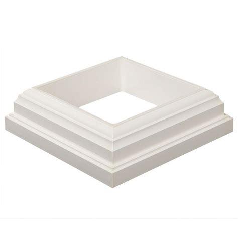 fiberon horizon      white pvc post sleeve base